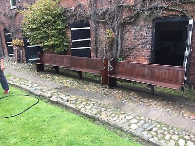 Reclaimed Pitch Pine Church Pew
