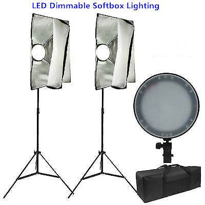 Photo Studio 45W LED Dimmable Softbox Lighting Soft Box Diffuser Light Stand Kit