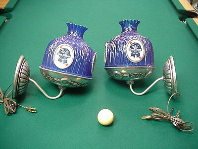 Pabst Blue Ribbon Sconce Pair Vintage NICE