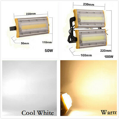 50W 100W LED Flood Light Warm & Cool White Floodlight Outdoor Garden Lamp IP65