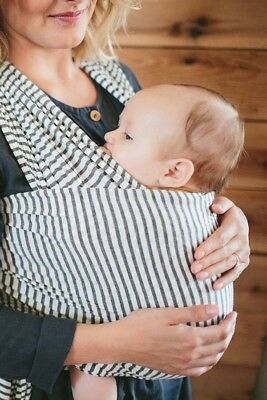 The Solly Baby Wrap Carrier - Natural Grey Stripe - One Size Fits All
