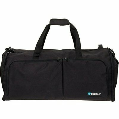 Suit Garment Bag By Baglane - Military Travel Duffel Bag (Black)