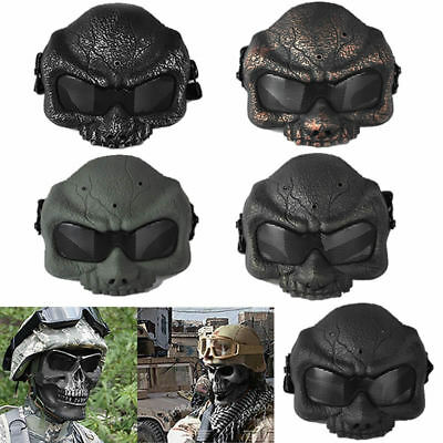 Tactical Ghost Skull Airsoft Paintball Game Hunting Half Face Protect Mask Guard