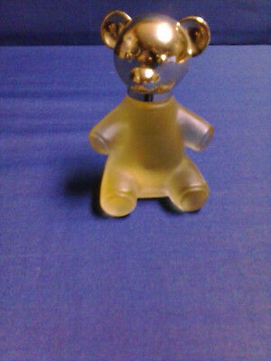 Vintage  GLASS TEDDY BEAR DECANTER WITH SWEET HONESTY COLOGNE .75 FL  New No Box