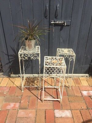 3 X Vintage Wrought Iron Pot Stands...
