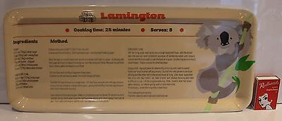 Vintage Lamington Tray Recipe Instructions Australiana Koala Melamine Vintage