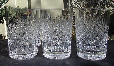 Stunning Set 6 Vintage Cut Crystal Small Glasses Tumblers Whisky