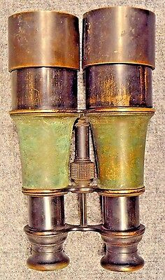 ~VINTAGE**WWI**Era~BRASS~Binoculars~Opera~Field~Glasses~ANTIQUE~Military~WORK~