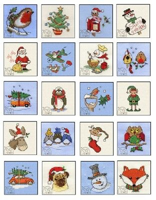 Mouseloft Mini Counted Cross Stitch Kit Christmas Stitchelets