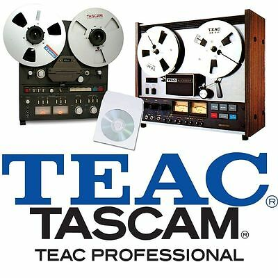 TEAC TASCAM TAPE RECORDER REEL TO REEL USER SERVICE INSTRUCTION MANUAL on CD