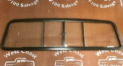 61-66 Ford F100 Parts Rear Sliding Clear Glass Window With Black Alloy Frame