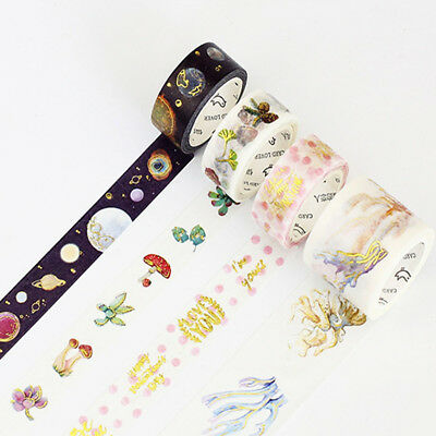 New Design DIY Paper Sticky Adhesive Stickers Decorative Washi Tape