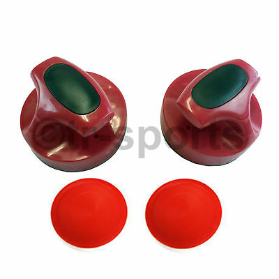 2Pcs Air Hockey Table Goalies with 2pcs Puck Felt Pusher Grip Heavy Duty