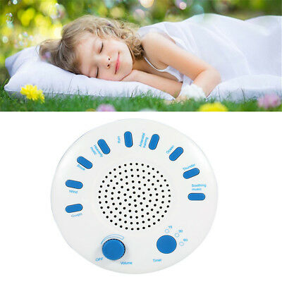 Relax Machine Deep Sleep Solution Noise Nature Peace Therapy WIth 9 Sounds White