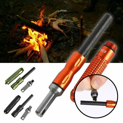 Waterproof Magnesium Flint Strike Firestarter Firesteel Survival Camping Fire