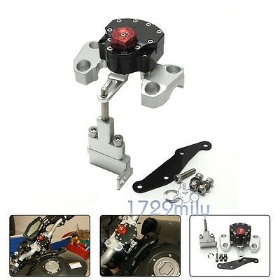 Steering Damper Stabilizer W/ Mounting Bracket For Yamaha MT-09 FZ-09 2014-2017