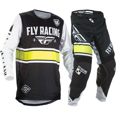 Fly Racing  2018 Completo, Kinetic Era, Pant. 32 Jers. M Black White
