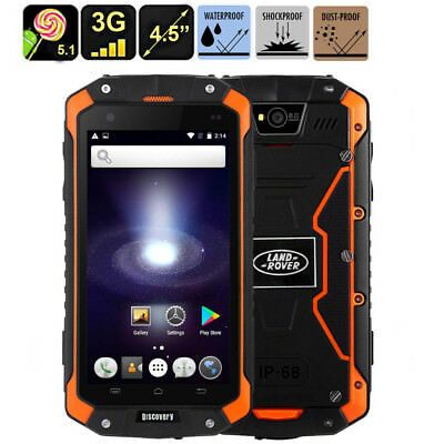 3G Rugged Android Waterproof Smartphone Quad Core 1G+8G Tough Phone Discovery V9