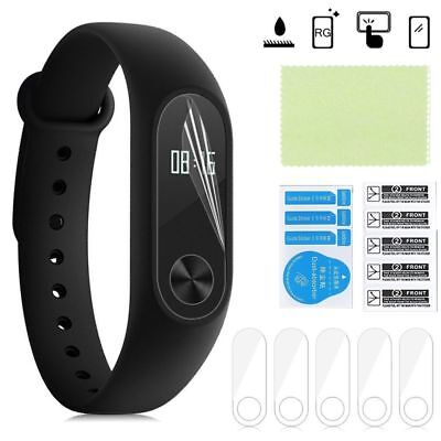 5Pcs Xiaomi Mi Band 2 Smart Wristband Screen Protector HD Anti-Scratch CoverTop