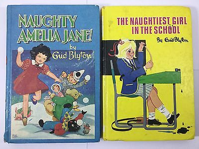 2 Enid Blyton DEAN & SON Vintage Books - Fair Condition Naughty Amelia Jane