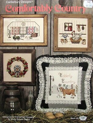 Canterbury Designs Comfortably Country Cross Stitch Book 46 - 8 Projects