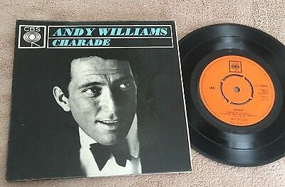 """7"""" Andy Williams Charade Ep 1964.."""