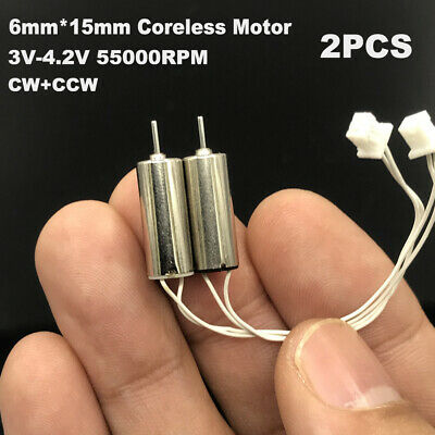 2pcs DC1.5V-3V 36000RPM High Speed Mini Motor 6mmx10mm Mini Micro Coreless Motor