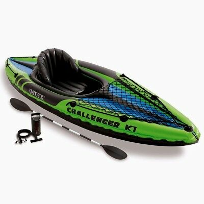 Intex Challenger K1 Kayak, 1-Person Kayak Set with Aluminum Oar and Pump