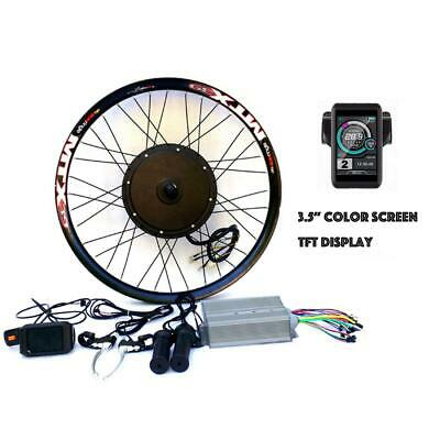 "3.2"" TFT LCD+3000W Hi Speed Electric MTB Bicycle E Bike Hub Motor Conversion kit"