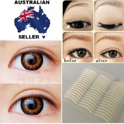 100x Pairs Double Narrow Eyelid Tape Sticker For Large Looking Eye Lid Invisible