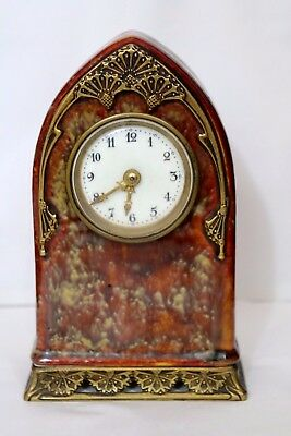 Paul Louchet Paris Ancienne Pendule En Bronze Porcelaine Art Nouveau Clock 19Th
