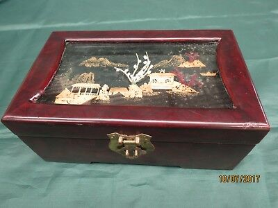 Vintage:Decorated Chinese jewellery box