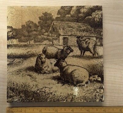 Minton Tile. William Wise designed . Sheep & Cow
