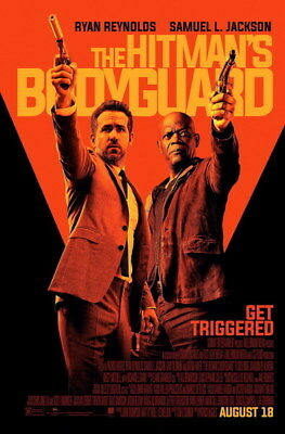 "007 THE HITMANS BODYGUARD - Ryan Reynolds Action 2017 USA Movie 14""x21"" Poster"