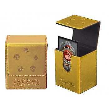 Ultra Pro MTG Deluxe Mana Symbol Gold Flip Deck Box - Holds 100 Cards