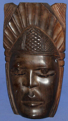 Vintage Hand Carved Wood Tribal Wall Decor Mask