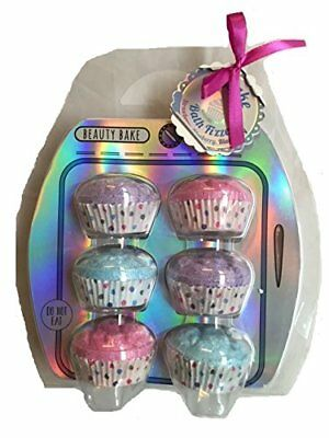 Fruity Scented Cupcake Bath Bomb Bombs Fizzer Fizzers Gift Set of 6 - Blueberry