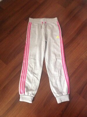 Fab Girls Adidas Jogging Bottoms, Age 13-14 Years, Immaculate