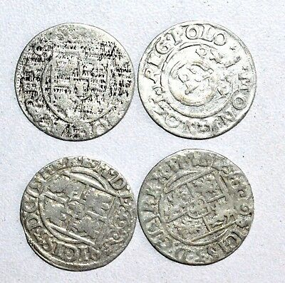 Lot Of 4 Medieval Silver Hammered Coins - Ancient Artifact Superb - M745