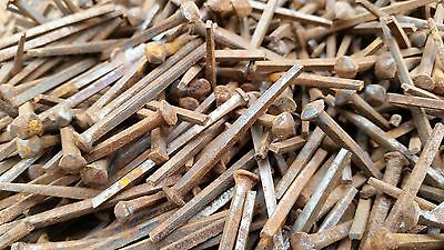 "200g Vintage Square Cut Rose Head Nails Light Rust 1.75"" 4.4cm"