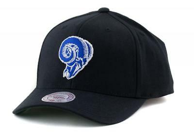 Los Angeles Rams Cap - Mitchell & Ness NFL LA Hat - Mitchell And Ness In Black