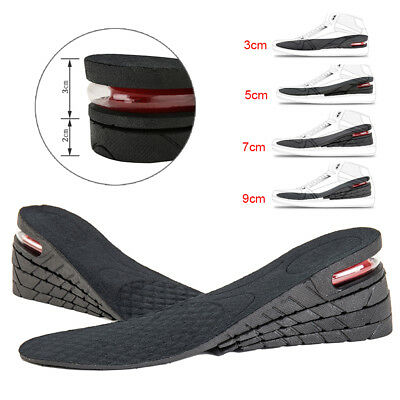 3/5/7/9cm Unisex Shoe Lift Height Increase Heel Insole Insert Air Bubble Cushion