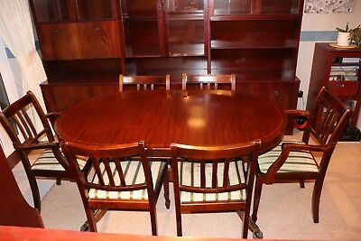 Beautiful mahogany dining table and chairs.