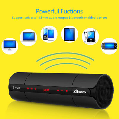 PORTATILE Wireless Bluetooth Cassa Stereo ALTOPARLANTE USB TF Mic con Flashlight