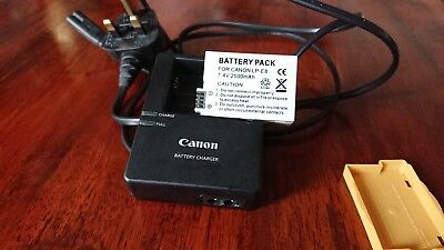 Genuine Canon Battery Charger +battery LP-E8