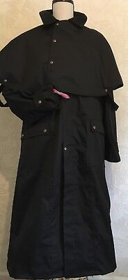 Sherwood Forest Gore Full Length Stockman's Waxed Coat. Size S Short.