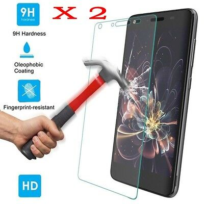 2X 9H+ Premium Tempered Glass Screen Protector For Huawei Y3 II / Huawei Y5 II