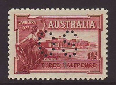 1927 Canberra Superbly centred perforated OS M NH full og gum & No Faults.