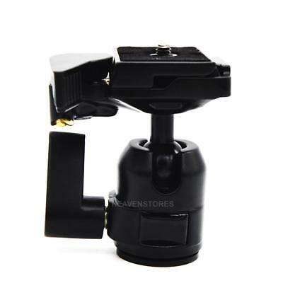 360 Rotate Camera Camcorder Tripod Monopod Ball Head Quick Release Plate hv2n