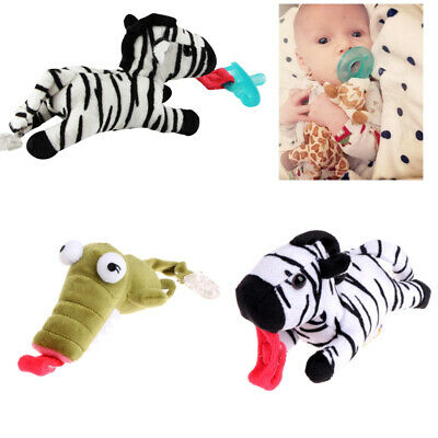 Baby Boy Girl Dummy Pacifier Clip Feeding Plush Animal Toy Soother Nipple Holder